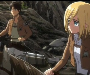 shingeki no kyojin, eren jaeger, and historia reiss image