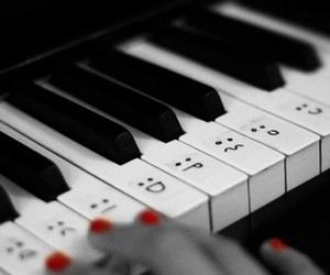piano, music, and face image