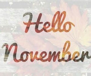 november, autumn, and hello november image
