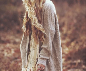 autumn, cardigan, and fall image