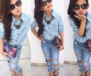 sunglasses, curl hair, and kidsfashion image