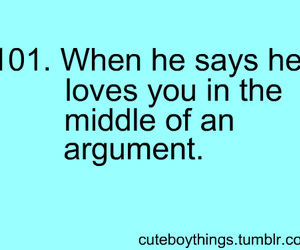 love, argument, and text image