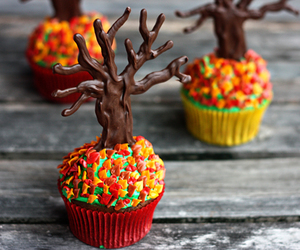cupcake, food, and tree image