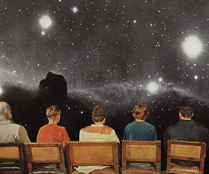 art, galaxy, and Collage image