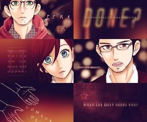 manga, hirunaka_no_ruusei, and romantic image