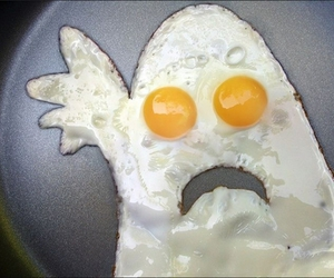 ghost, egg, and eggs image
