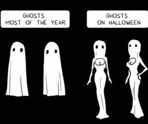 ghost, Halloween, and funny image