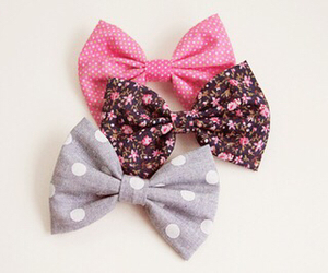 bow, pink, and girly image