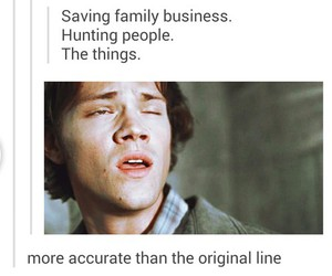funny, true story, and sam winchester image