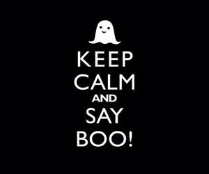 boo, Halloween, and keep calm image