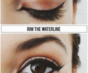 eyeliner, mascara, and tutorial image