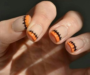 nails, Halloween, and orange image