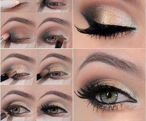 elegant, eyes, and eyeshadow image