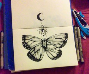 art, doodle, and butterfly image