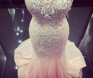 dress, pink, and diamond image