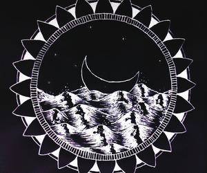 moon, sea, and art image