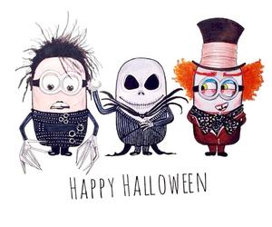 minions, Halloween, and happy halloween image
