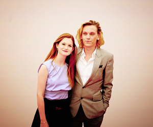 bonnie wright, couple, and harry potter image