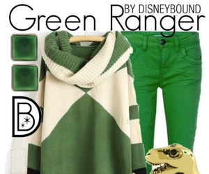 green ranger and the power rangers image