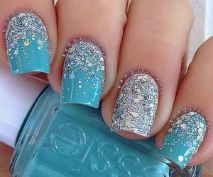 blue, frozen, and nails image