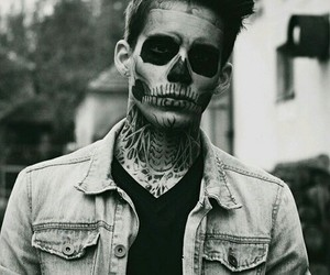 boy, black and white, and Halloween image