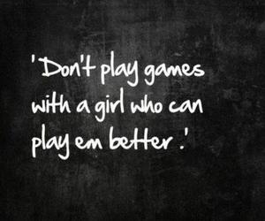 girl, game, and quotes image