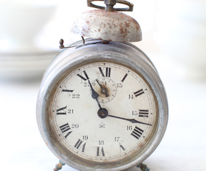 clock, vintage, and old image