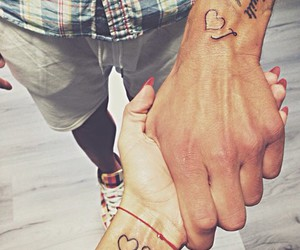couple, lovers, and tatto image