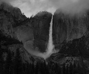 waterfall, nature, and mountains image