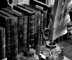 book, vintage, and black and white image