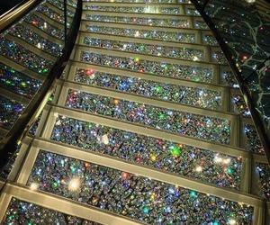 diamond, luxury, and stairs image