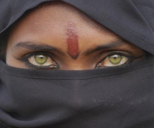 eyes, beauty, and green image