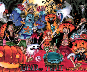 Halloween and one piece image