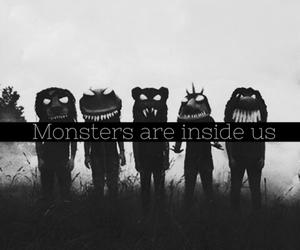 monster, black, and inside image