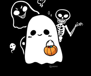 Halloween, ghost, and cute image