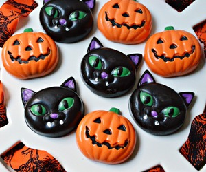 food, Halloween, and cat image