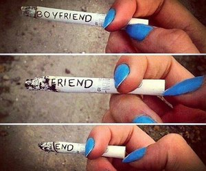 blue nails, boy, and boyfriend image