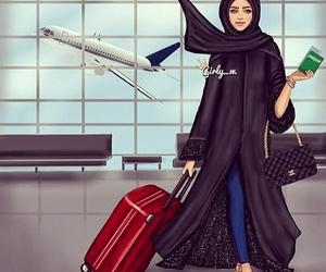 girly_m, travel, and hijab image