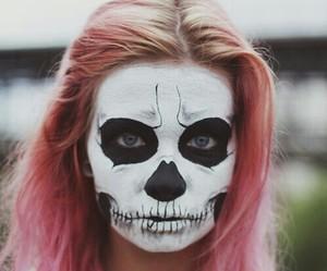 girl, Halloween, and pink image