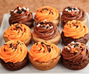 cupcake, Halloween, and autumn image