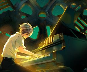 anime, piano, and art image