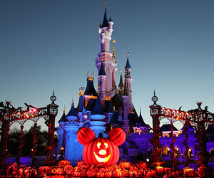 disney, Halloween, and castle image