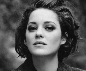 Marion Cotillard, girl, and black and white image