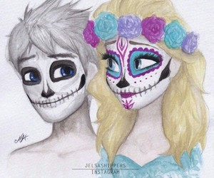 jelsa, elsa, and Halloween image