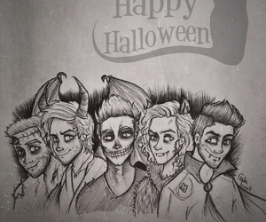 Halloween and one direction image