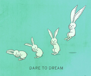 Dream, rabbit, and bunny image