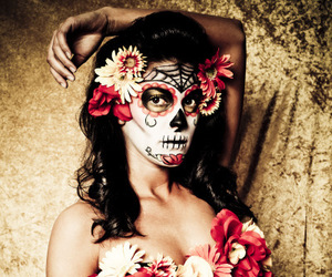 beautiful, colorful, and day of the dead image