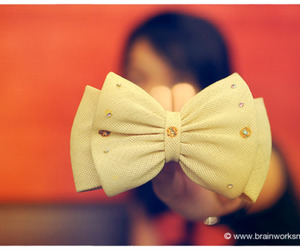 bokeh, bow, and photogrpahy image