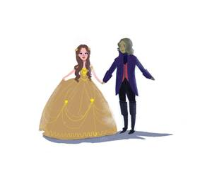 art, belle, and once upon a time image