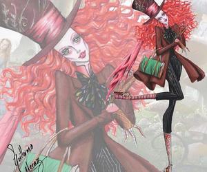 tim burton, art, and mad hatter image